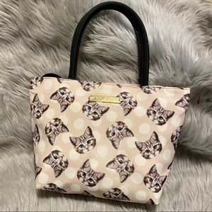 Betsey Johnson Cat Print Insulated Lunch Tote
